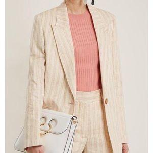 Vintage Dior Striped Linen Blazer